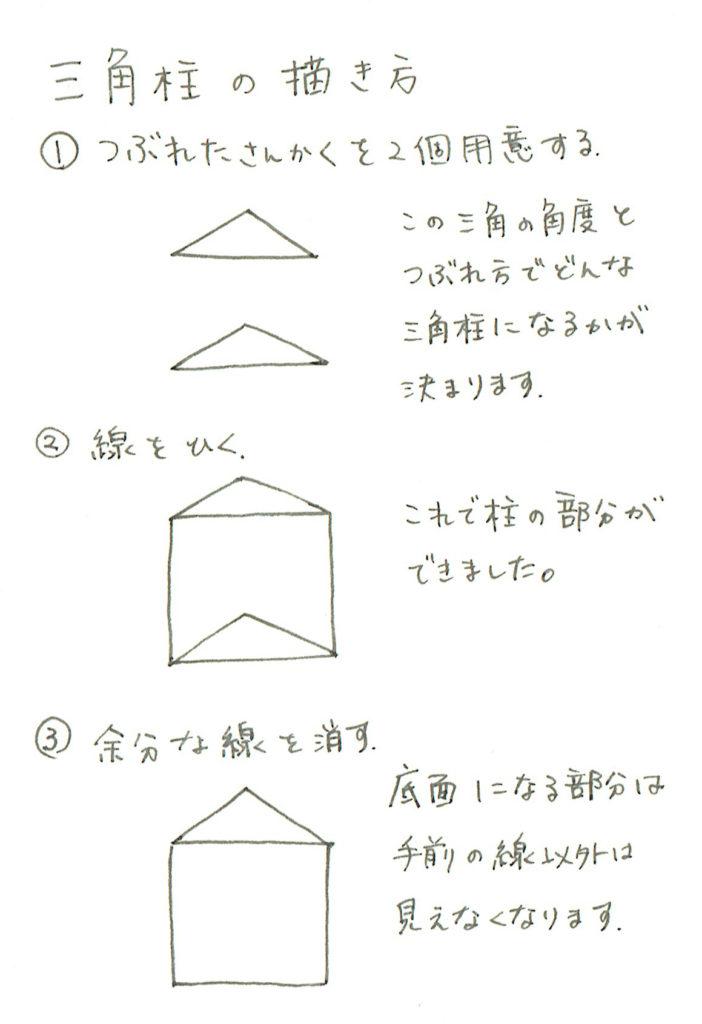 三角柱の描き方