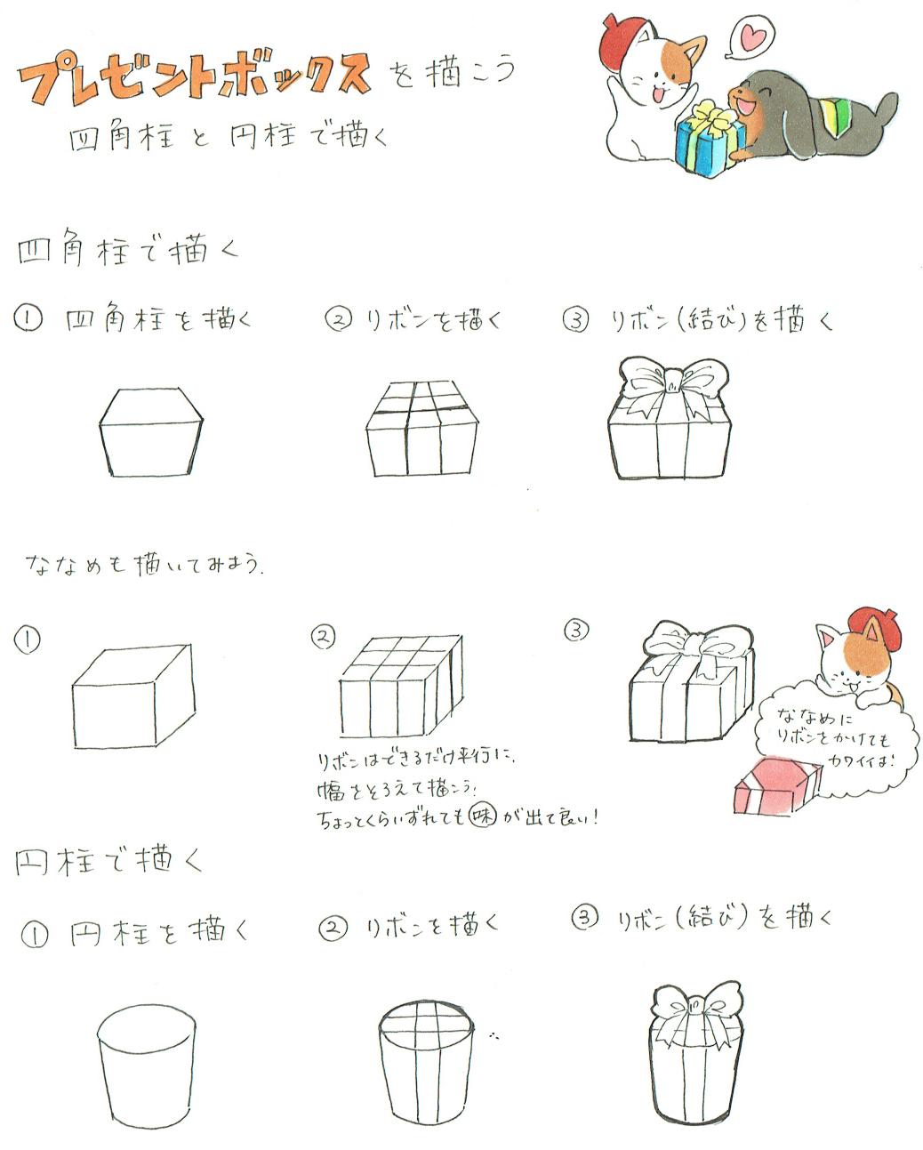 プレゼントボックスの描き方